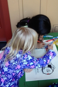 Alaiya & Her Friend Coloring-In